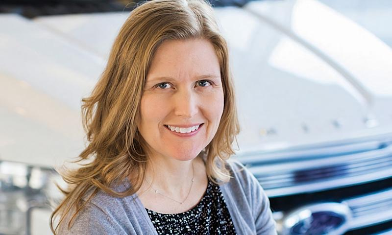 Jackie DiMarco, Ford director of truck strategy, is a mechanical engineer who studied human behavior when designing the 2021 F-150. This photo was taken in 2017.