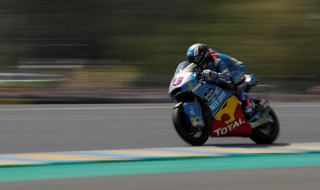 Motorcycling - Moto2 - French Grand Prix - Bugatti Circuit, Le Mans, France - May 20, 2018 EG 0,0 Marc VDS' Alex Marquez during the race REUTERS/Gonzalo Fuentes