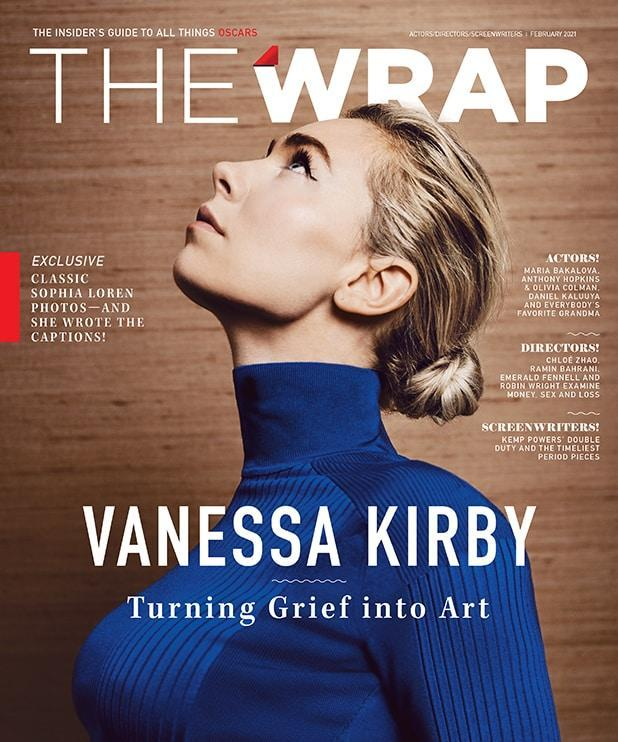 Vanessa Kirby on the cover of the Actors, Directors & Screenwriters 2021 OscarWrap
