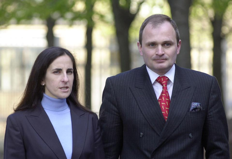 Major Charles Ingram and his wife Diana arrive at Southwark Crown Court in  London. Jurors in the Who Wants To Be A Millionaire? trial embarked today on the third day of deliberations.    * They are trying Major Ingram, who is accused of  cheating his way  to the top prize on the popular TV quiz show, and lecturer Tecwen Whittock, who allegedly used  coded coughs  to signal the right answers to him.  Also in the dock at London's Southwark Crown Court is the officer's wife Diana, said by the prosecution to have helped  set up  the scam.   19/05/04:  The case of convicted TV quiz cheat Major Charles Ingram was back in court today. Lawyers for Major Ingram and his wife Diana, both 40, were asking the Court of Appeal in London for leave to appeal against their convictions and the fines they were ordered to pay in addition to their 18-month suspended jail sentences.   (Photo by Johnny Green - PA Images/PA Images via Getty Images)