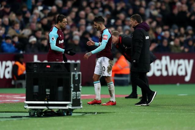 Manuel Lanzini ready to return to West Ham training next week ahead of Liverpool trip