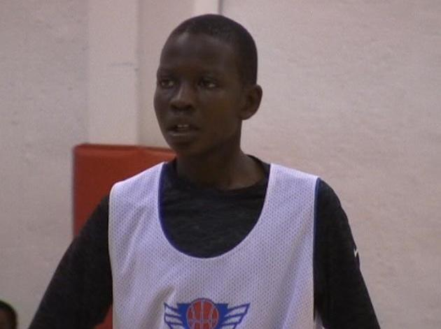 The late Manute Bol's seventh grade son, Bol Bol, who bears a similar resemblance in features and on-court play — Home Team Hoops screen grab