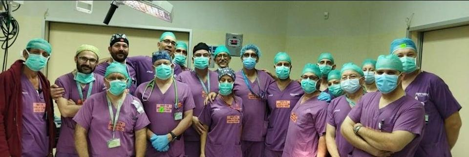 The procedure was led by by UK neurosurgeon Dr Noor ul Owase Jeelani with the support of a local team at Soroka Medical Centre in Israel (Soroka Medical Center)