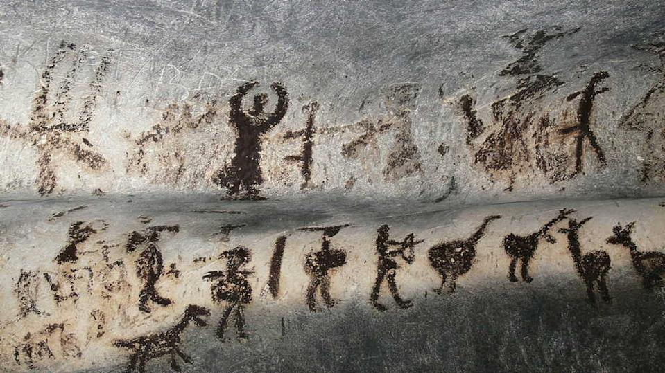 Cave paintings that depict early human life and settlements. Image credit: Flickr/ MarieBrizardFollow