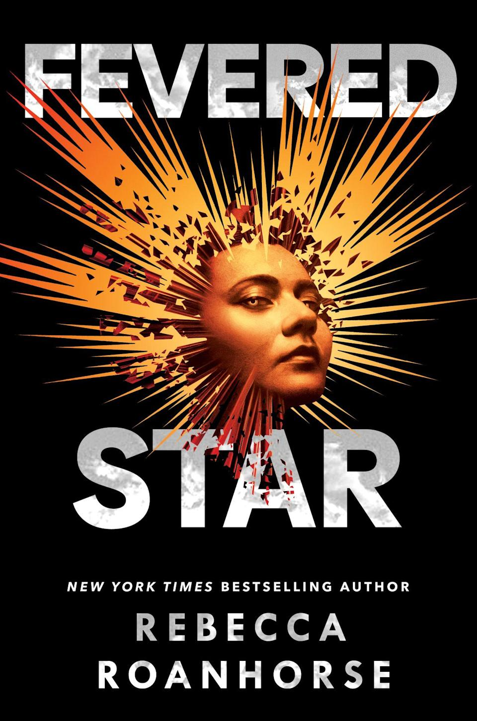 Fevered Star book cover shows light radiating from a woman's head