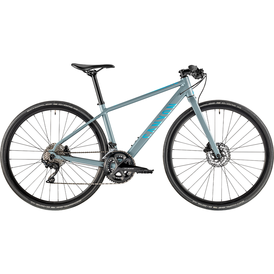 """<p><a class=""""body-btn-link"""" href=""""https://www.canyon.com/en-gb/hybrid-city/citybikes/roadlite/roadlite-wmn-al-7.0/2346.html?dwvar_2346_pv_rahmenfarbe=GY%2FBU"""" target=""""_blank"""">SHOP NOW</a></p><p><strong>Price: </strong>£999 </p><p>A little on the pricier side it may be, but this Canyon bike punches above its price tag. A sleek, lightweight aluminium frame and smooth components means this hybrid bike, which is specifically engineered for female riders, feels speedy and responsive. </p><p><strong>Number of gears: </strong>2x11 speed with a premium Shimano 105 R7000 GS</p><p><strong>Frame:</strong> Sleek, lightweight aluminium frame </p>"""