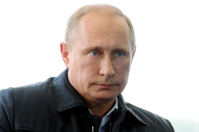 Russian President Vladimir Putin attends the 'Seliger-2014' youth forum at Seliger Lake in the Volga basin of western Russia, on August 29, 2014