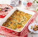 """<p>You can make this delicious zucchini casserole any time of the year. It's great for using up summer vegetables or as a holiday side.</p><p><a href=""""https://www.thepioneerwoman.com/food-cooking/recipes/a36502497/zucchini-casserole/"""" rel=""""nofollow noopener"""" target=""""_blank"""" data-ylk=""""slk:Get the recipe."""" class=""""link rapid-noclick-resp""""><strong>Get the recipe.</strong></a></p>"""