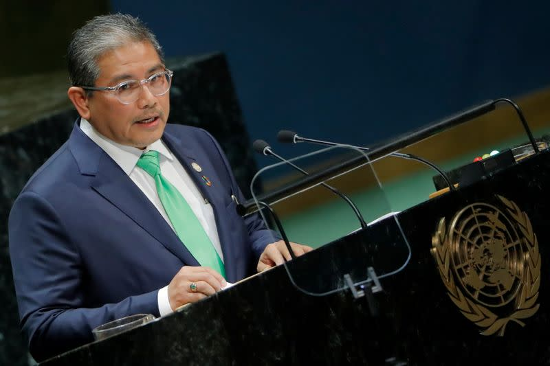 Brunei's Second Minister of Foreign Affairs Erywan Pehin Yusof addresses the 74th session of the United Nations General Assembly at U.N. headquarters in New York City, New York