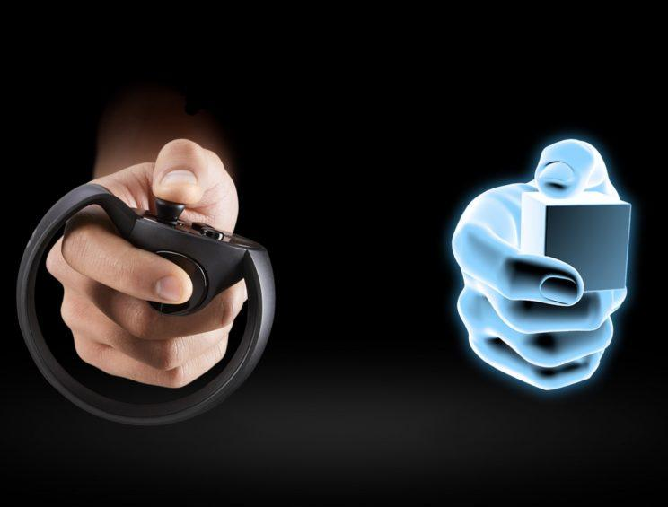 Oculus Touch immersion.