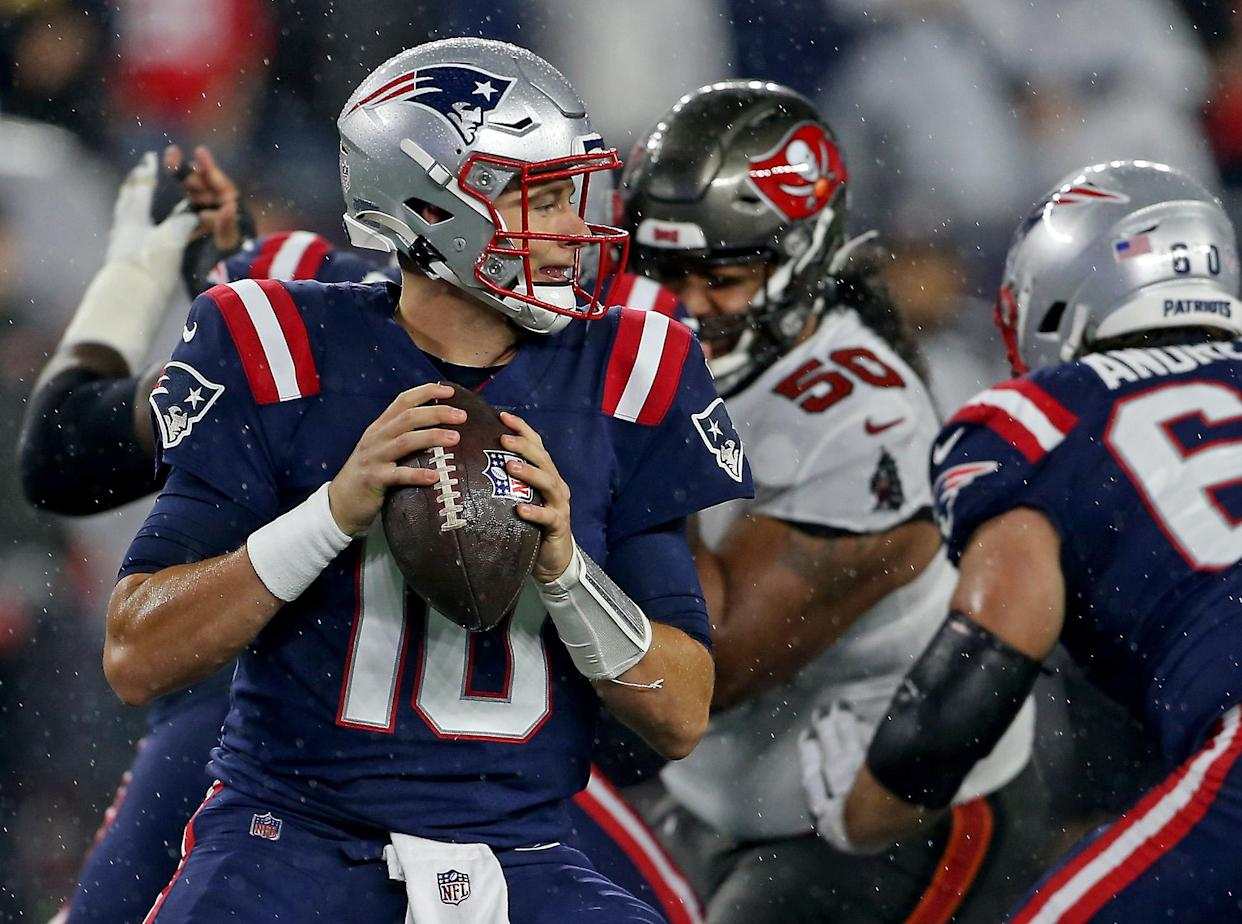 Mac Jones was one of the rookie quarterbacks who played much better in Week 4.  (Staff Photo By Matt Stone/MediaNews Group/Boston Herald)