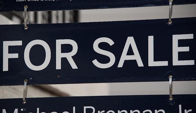 US existing homes sales fell in August to its lowest level in more than a year as prices continued to rise, with economists blaming tight supply despite some impact seen from Hurricanes Harvey and Irma (AFP Photo/NICHOLAS KAMM)