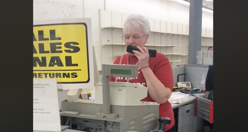 Woman Delivers Poem As Kmart Closes