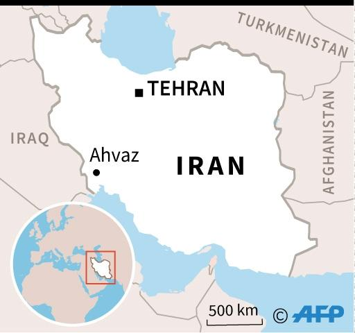 A map of Iran locating Ahvaz (AFP Photo/AFP)