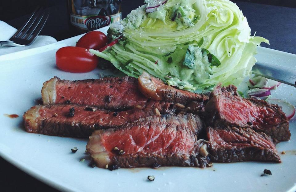 """<p>There are a lot of <a href=""""https://www.thedailymeal.com/best-recipes/sweet-spicy-marinated-steaks?referrer=yahoo&category=beauty_food&include_utm=1&utm_medium=referral&utm_source=yahoo&utm_campaign=feed"""" rel=""""nofollow noopener"""" target=""""_blank"""" data-ylk=""""slk:unusual meat marinades"""" class=""""link rapid-noclick-resp"""">unusual meat marinades</a> that people use, including Dr Pepper, which is surprisingly popular. You'll end up with steaks that are sweet but with a bit of a kick, thanks to some grilled jalapenos.</p> <p><a href=""""https://www.thedailymeal.com/best-recipes/sweet-spicy-marinated-steaks?referrer=yahoo&category=beauty_food&include_utm=1&utm_medium=referral&utm_source=yahoo&utm_campaign=feed"""" rel=""""nofollow noopener"""" target=""""_blank"""" data-ylk=""""slk:For the Sweet and Spicy Marinated Steaks recipe, click here."""" class=""""link rapid-noclick-resp"""">For the Sweet and Spicy Marinated Steaks recipe, click here.</a></p>"""