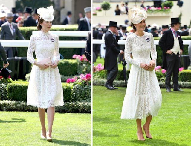 Kate's 2017 Royal Ascot look was eerily similar to her 2016 outfit. (Photo: Getty Images)