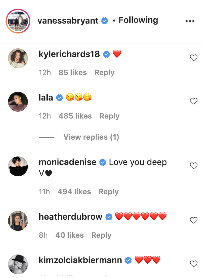 Kyle Richards, Lala and Monica were among those who commented. (Photo: Instagram)