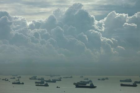 FILE PHOTO: Ships off the southern coast of Singapore seen on March 2, 2017. REUTERS/Edgar Su/File Photo/File Photo