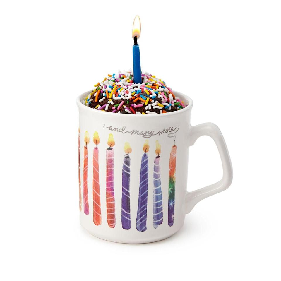 <p>This <span>Birthday Cake in a Mug</span> ($20) is how you celebrate.</p>