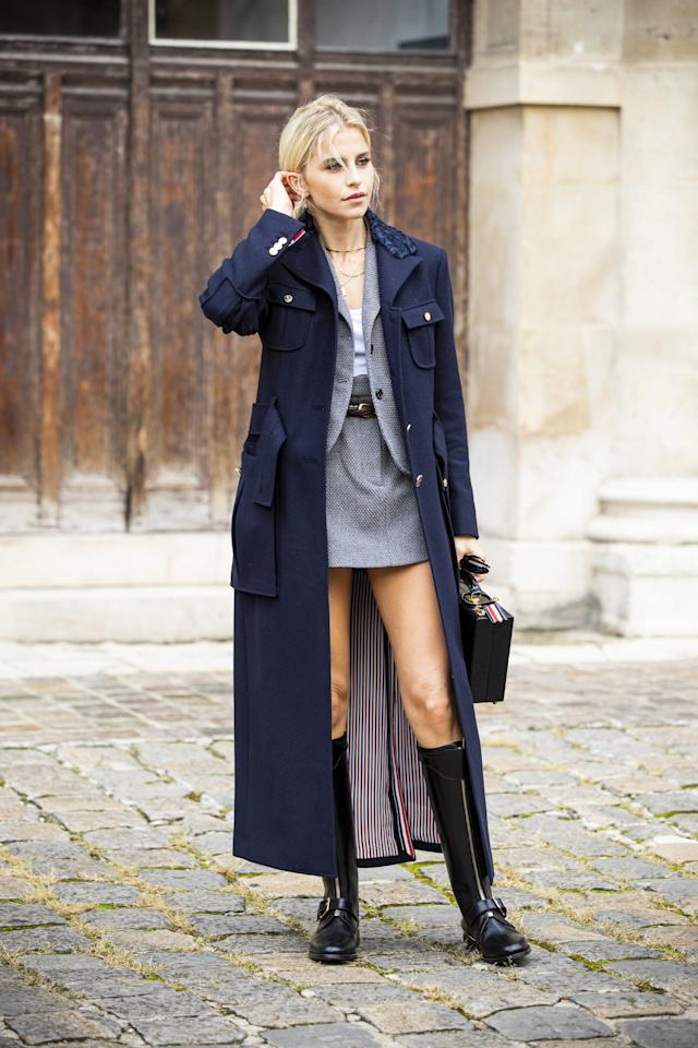 <p>Long coats give off this <i>je ne sais quoi</i>, infusing an air of elegance into every look you slip said outerwear on top of. The Fall 2019 runways included those in plaid and tweed at Chanel, classic navy at Tory Burch, and pale pink at Alberta Ferretti. Go classic or add a pop of color but, no matter what your personal style, consider a duster-length coat this Fall.</p>