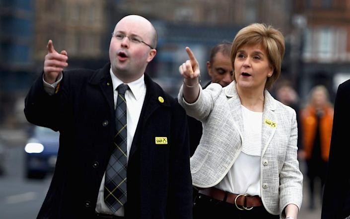Grady and Sturgeon in 2015. He denies the claims - GETTY IMAGES