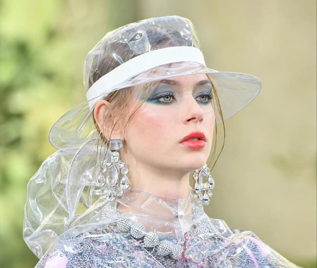 A model walks the runway during the Chanel show as part of Paris Fashion Week. (Photo: Getty Images)