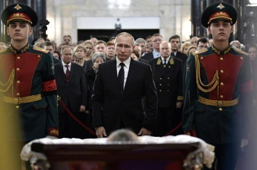 Russia bids farewell to slain Turkey envoy