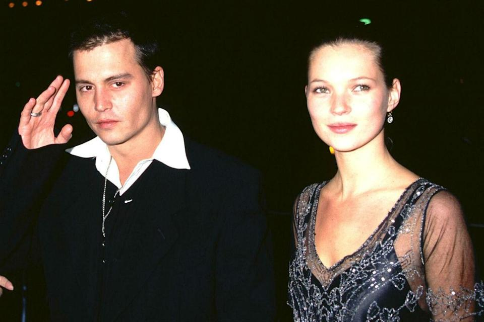 <p>A devastatingly good-looking couple, Depp snared supermodel Kate Moss in 1994, understandably to much tabloid interest, dating her until 1998.</p>