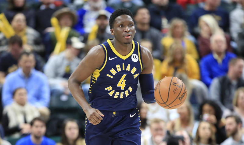 Victor Oladipo #4 of the Indiana Pacers