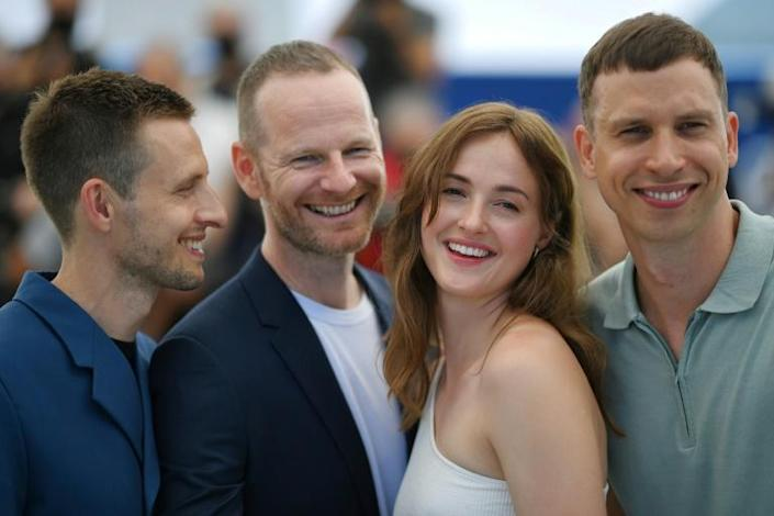 Critics' favourite: 'The Worst Person in the World' team, actor Anders Danielsen Lie, director Joachim Trier, actress Renate Reinsve and actor Herbert Nordrum at the Cannes film festival
