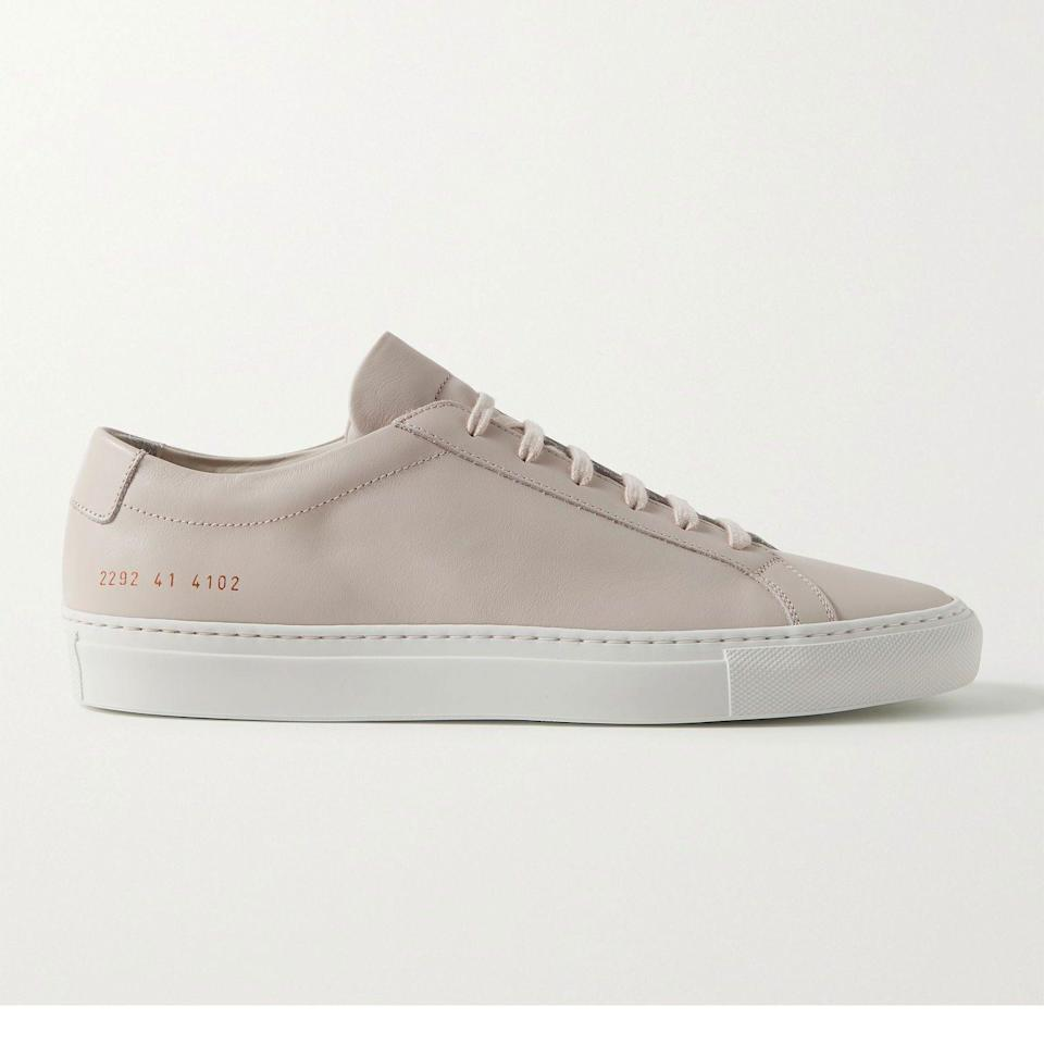 """<p><strong>Common Projects</strong></p><p>mrporter.com</p><p><a href=""""https://go.redirectingat.com?id=74968X1596630&url=https%3A%2F%2Fwww.mrporter.com%2Fen-us%2Fmens%2Fproduct%2Fcommon-projects%2Fshoes%2Flow-top-sneakers%2Foriginal-achilles-leather-sneakers%2F560971904236865&sref=https%3A%2F%2Fwww.esquire.com%2Fstyle%2Fmens-fashion%2Fg36651914%2Fmr-porter-sale-june-2021%2F"""" rel=""""nofollow noopener"""" target=""""_blank"""" data-ylk=""""slk:Shop Now"""" class=""""link rapid-noclick-resp"""">Shop Now</a></p><p><del>$460.00</del> <strong>$230.00 (50% off)</strong> </p><p>CPs for a steal? Yes, please.</p>"""