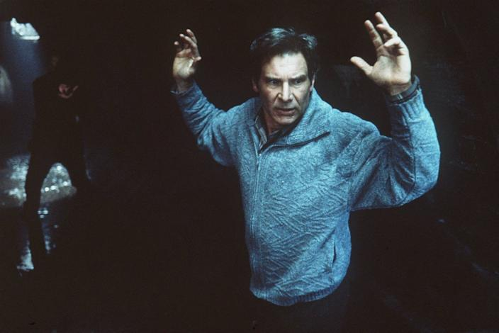 """Harrison Ford in the 1993 movie version of """"The Fugitive."""""""