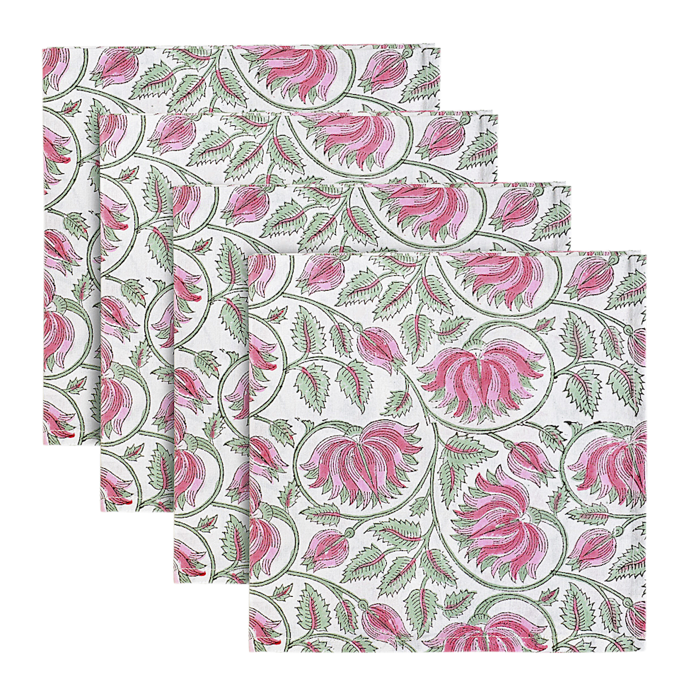"Strawberry fields napkins; $40 for a set. <a href=""https://www.indiaamory.com/dinner-napkins/new-petal-paisley-dinner-napkins-sdl4z-4ej8g"">Indiaamory.com</a>"