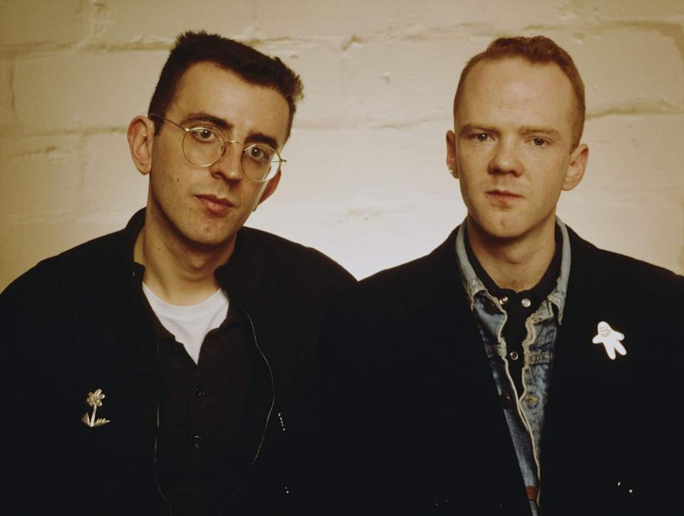 Richard Coles and Jimmy Somerville of British pop group 'The Communards, circa 1987.