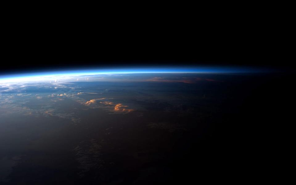 Sunrise or sunset over planet Earth, viewed from the International Space Station - NASA Archive/Alamy Stock Photo