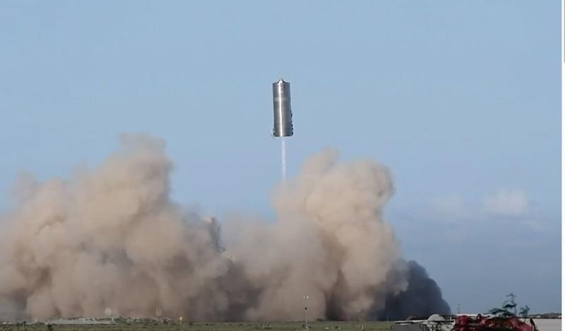 Watch SpaceX's larger Starship prototype take its first 'hop'
