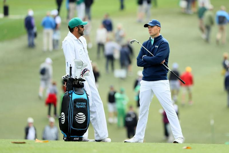 Jordan Spieth and Michael Greller