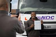 Instructors welcome the surge in interest but are concerned about newly qualified truckers being able to drive the biggest lorries (AFP/Tolga Akmen)
