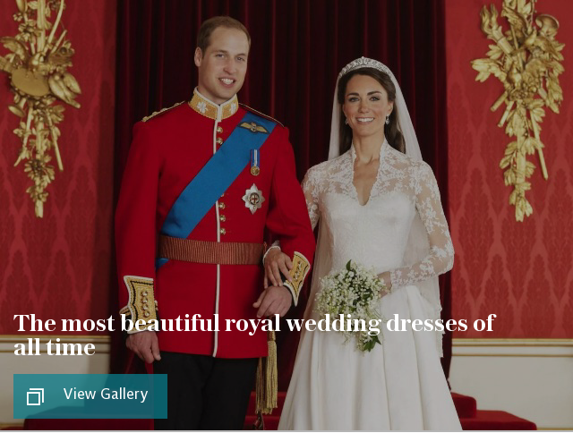 The most beautiful royal wedding dresses of all time