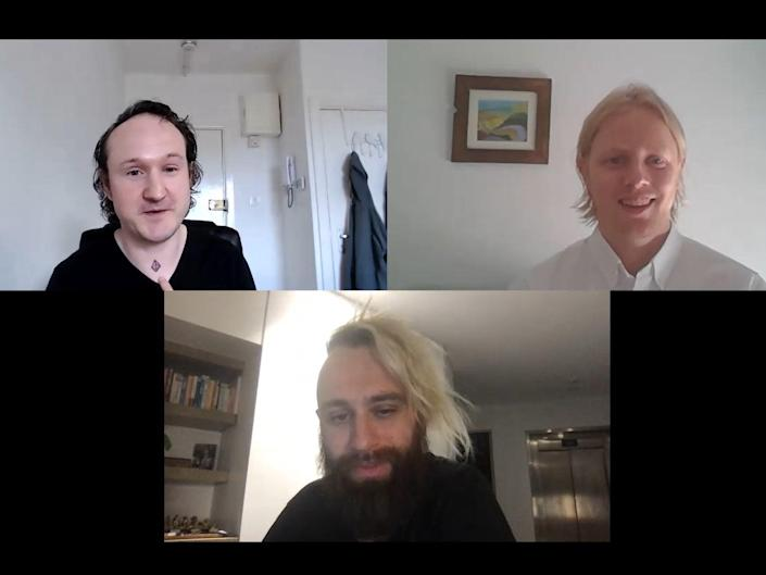 Dr Paul Ennis (L), Anthony Cuthbertson (R) and Fred Schebesta take readers' questions about the crypto market (The Independent)