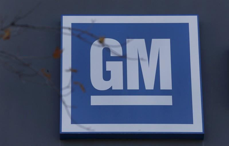 FILE PHOTO: The GM logo is seen at the General Motors Lansing Grand River Assembly Plant in Lansing,