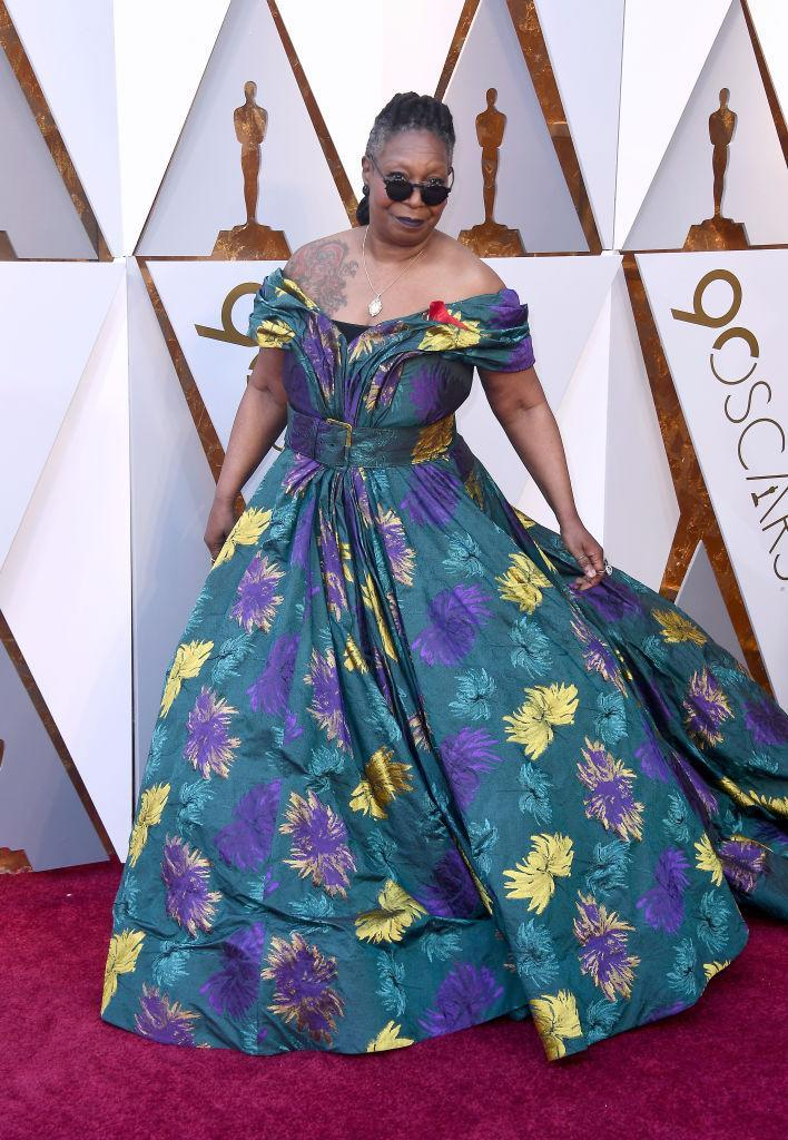 <p>Whoopi Goldberg attends the 90th Academy Awards in Hollywood, Calif., March 4, 2018. (Photo: Getty Images) </p>