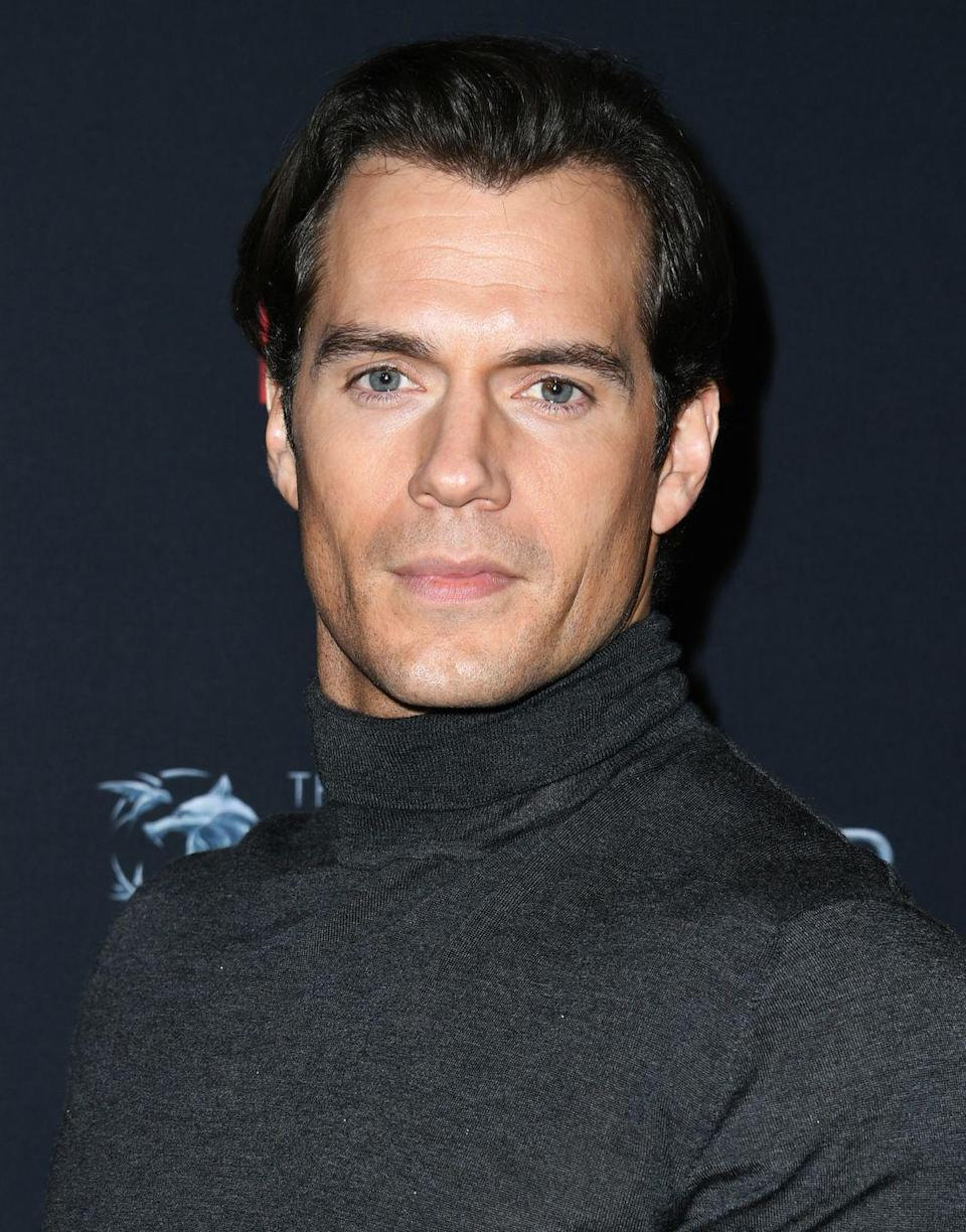 <p>In the name of <em>Superman</em>, Cavill parted ways with his 'stache. Turns out was hiding a razor sharp jawline underneath. </p>