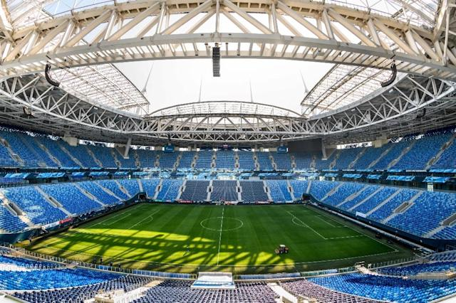 <p>Krestovsky Stadium, Saint Petersburg<br>Year opened: 2017<br>Capacity: 64,287<br>Which games: Four group games, last 16 tie, semi-final, third place playoff<br>Fun fact: Repoertedly the most expensive stadium in the world, at a whopping £1.14bn to build. </p>