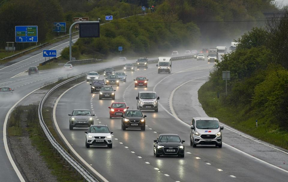 Seven in 10 drivers want lower motorway speed limits in wet weather, a new survey suggests (Steve Parsons/PA) (PA Wire)