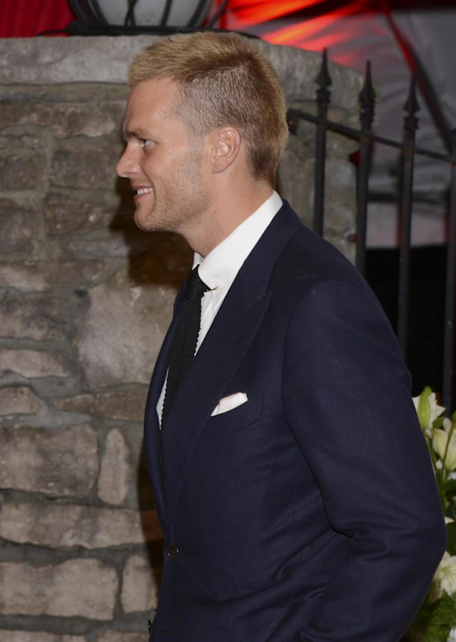 LOUISVILLE, KY - MAY 02: Football player Tom Brady attends the Barnstable Brown Kentucky Derby Eve Gala at Barnstable Brown House on May 2, 2014 in Louisville, Kentucky. (Photo by Vivien Killilea/Getty Images)