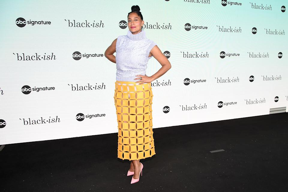 Tracee Ellis Ross is pictured at an event in 2021