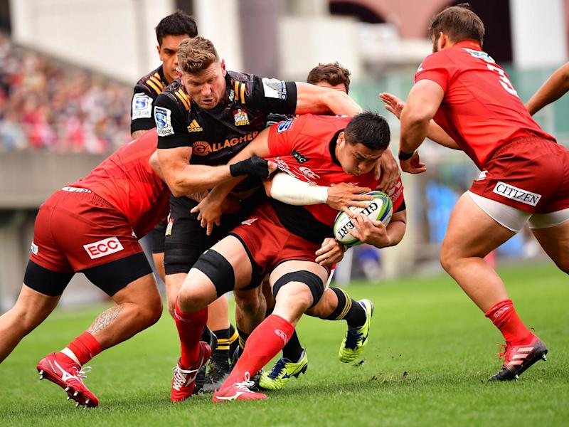 Sunwolves' Kotaro Yatabe in action during a Super Rugby match against Chiefs in Tokyo: Getty Images