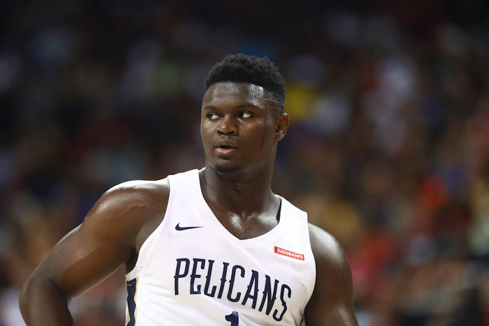 Kendrick Perkins believes the temptation of New Orleans cuisine could prove problematic for Zion Williamson. (Getty)