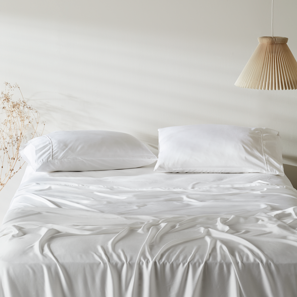 "<p>If you love the feel of silk but want to help save the planet, consider the Ettitude Signature Organic Bamboo Sateen Sheet Set. They take far less water to produce than cotton sheets, and reviewers can't stop raving about how cool they stay throughout the night. It's safe to say West Coast editor <a href=""https://www.glamour.com/contributor/jessica-radloff?mbid=synd_yahoo_rss"" rel=""nofollow noopener"" target=""_blank"" data-ylk=""slk:Jessica Radloff"" class=""link rapid-noclick-resp"">Jessica Radloff</a> is never letting go. ""I love supporting female-founded businesses and was impressed that founder Phoebe Yu used her knowledge of home textiles to create the world's first CleanBamboo fabric. She wanted to create her own dream bedding that was as soft as silk and sustainable as hemp but comparable to the price of cotton. I'm so glad she did."" In addition to its silky feel, the sateen weave is hypoallergenic and free from harmful chemicals which makes it ideal for sensitive skin.</p> <p><strong>Details:</strong></p> <ul> <li>Includes one fitted sheet, one flat sheet, and two standard size pillowcases</li> <li>300 thread count</li> <li>OEKO-TEX 100 certified</li> </ul> <p><strong>Star rating:</strong> 5 out of 5 stars</p> <p><strong>What customers say:</strong> ""I ordered the California king-sized bamboo Lyocell sheets in charcoal and absolutely love them. The color is perfect and they are so comfortable to sleep in. I can't imagine sleeping in cotton sheets ever again."" —<em>Danielle, reviewer on</em> <a href=""https://cna.st/affiliate-link/5uAfuPMywH11xXAQni6CXnbNaudfWg3NJaj4i8FtxWzrKKG4iVoBtnUYruporCh9C75dfNFDYekKbZJmnmHzZdoSUHsbwaJFwz3Pw15CCktmzsBEEwsiLySerbvq3aZr33t7WVZYvymWkViv7UuxqRyxpXre2B5D?cid=5e56dcad8aa1c60008a4594f"" rel=""nofollow noopener"" target=""_blank"" data-ylk=""slk:Ettitude"" class=""link rapid-noclick-resp""><em>Ettitude</em></a></p> $178, Ettitude. <a href=""https://www.ettitude.com/collections/bamboo-sheet-sets/products/bamboo-lyocell-sheet-set"" rel=""nofollow noopener"" target=""_blank"" data-ylk=""slk:Get it now!"" class=""link rapid-noclick-resp"">Get it now!</a>"